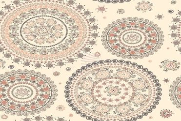 Ornamental seamless circle pattern