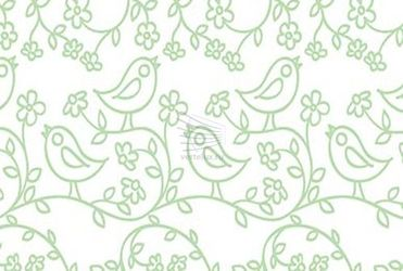 pattern with birds and flowers