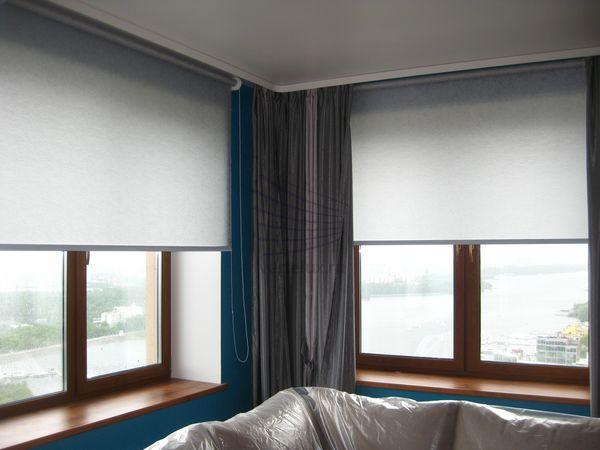 рулонные шторы на панорамные окна Vertelux