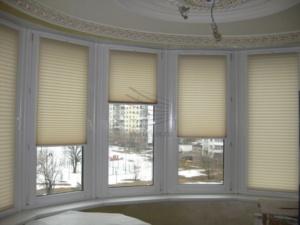 шторы плиссе в гостиной