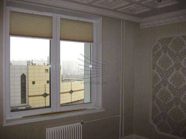 шторы плиссе в спальне