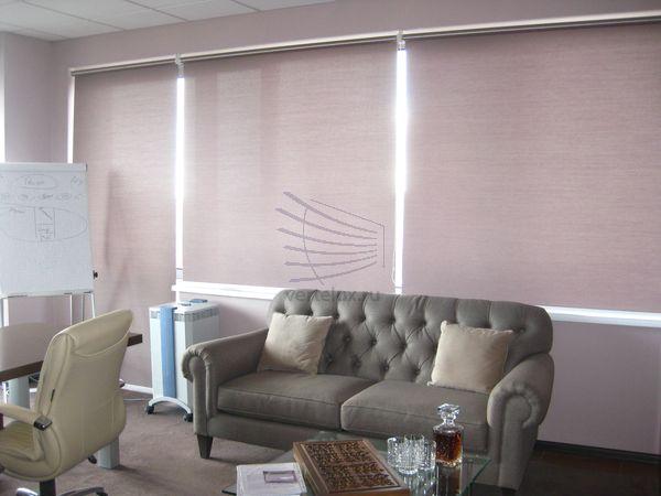 Рулонные шторы на окна в офис