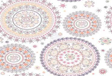 Ornamental seamless circle pattern
