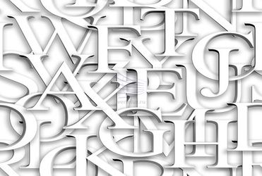 Seamless pattern. Repeating texture with white 3d letters