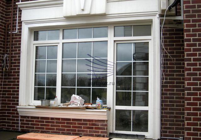 Рольставни на окна на задний двор таунхауса